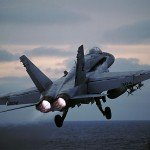 FA 18 carrier take off